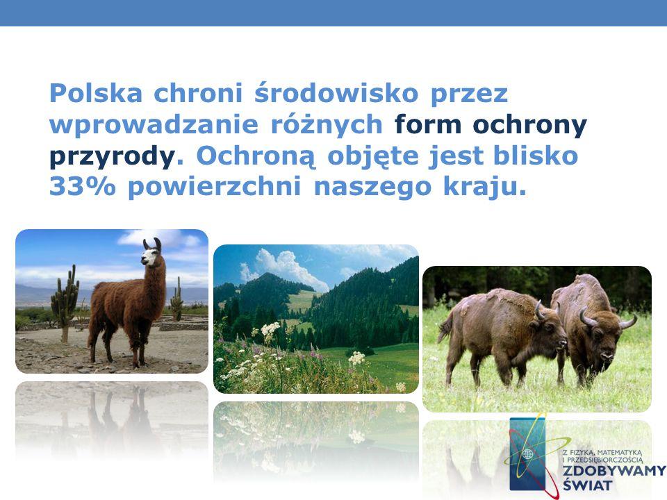 Polska chroni środowisko przez wprowadzanie różnych form ochrony przyrody.
