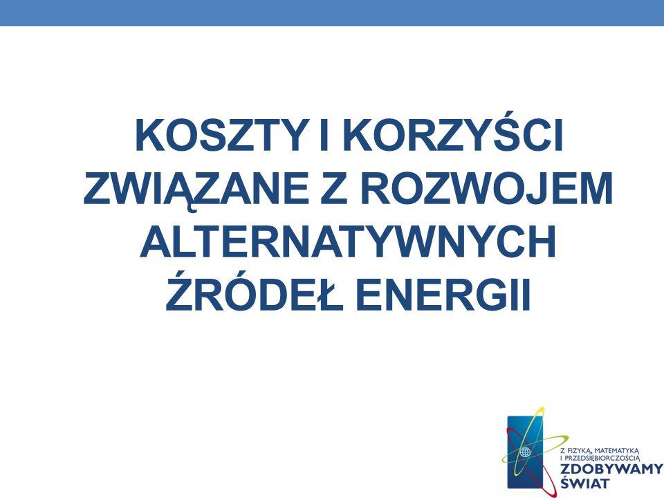 Koszty i korzyści związane z rozwojem Alternatywnych źródeł energii