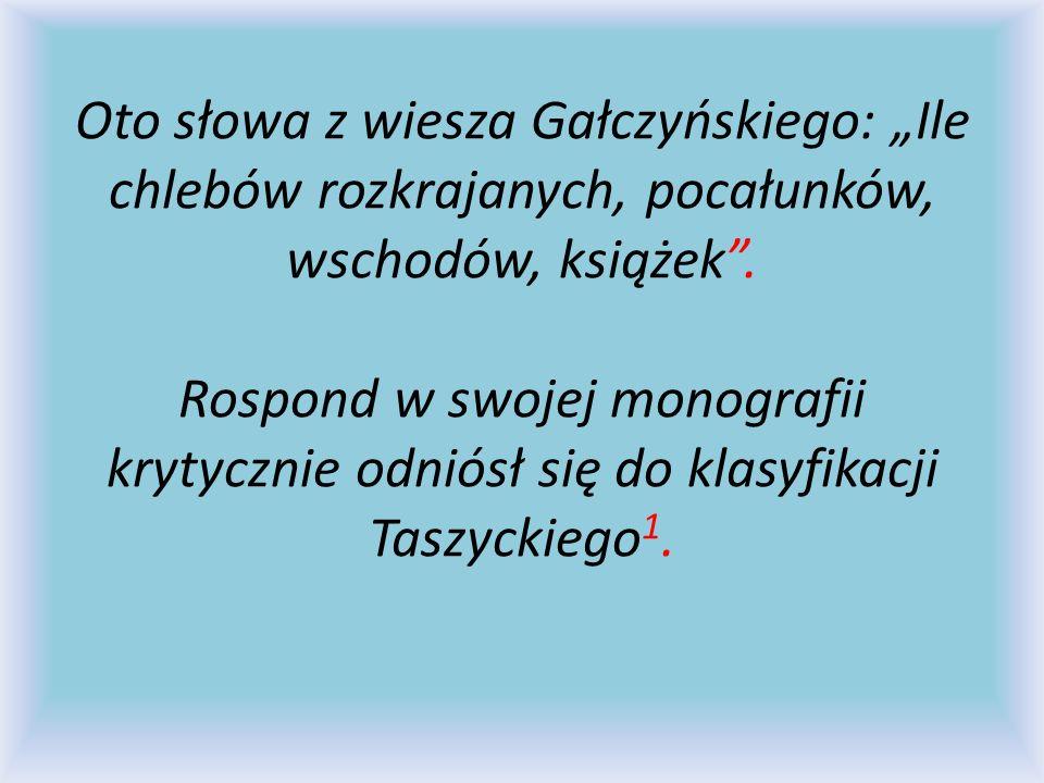 """Oto słowa z wiesza Gałczyńskiego: """"Ile chlebów rozkrajanych, pocałunków, wschodów, książek ."""