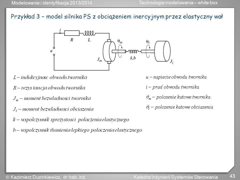Przykład 3 – model silnika PS z obciążeniem inercyjnym przez elastyczny wał