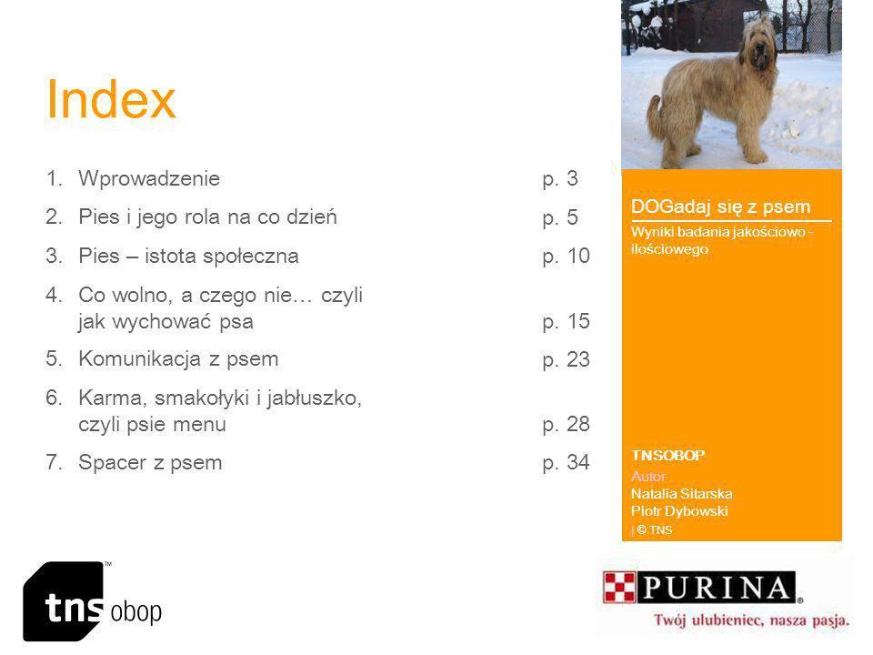 Index Wprowadzenie p. 3 Pies i jego rola na co dzień p. 5