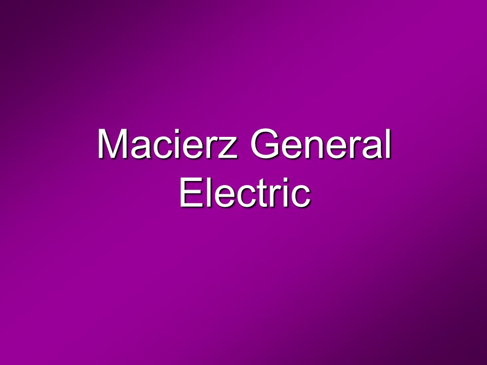 Macierz General Electric