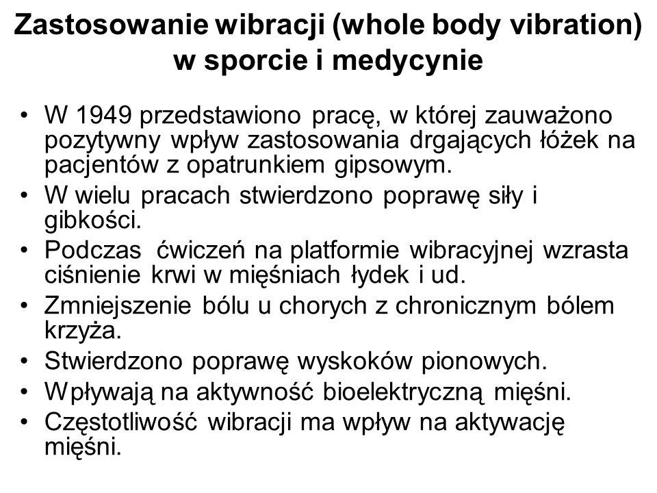 Zastosowanie wibracji (whole body vibration) w sporcie i medycynie