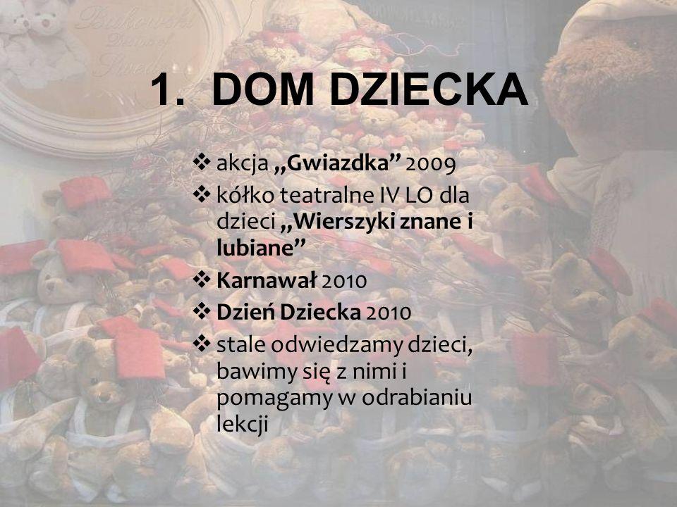 """DOM DZIECKA akcja """"Gwiazdka 2009"""