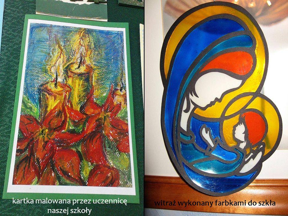 kartka malowana przez uczennicę naszej szkoły