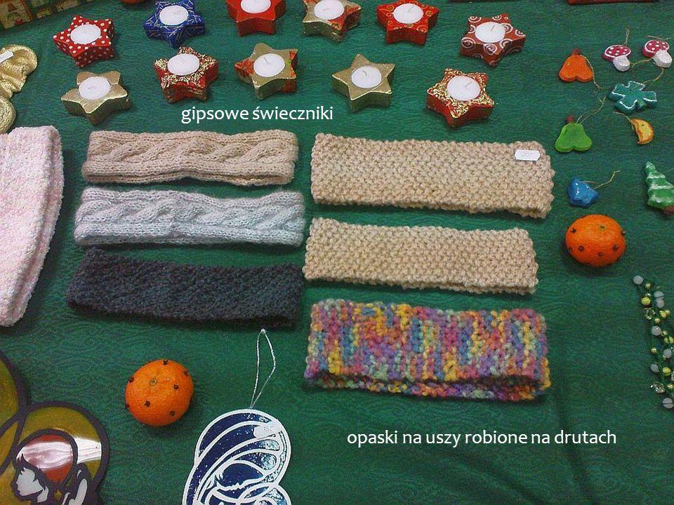 opaski na uszy robione na drutach