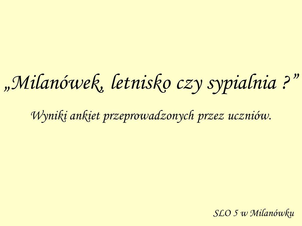 """""""Milanówek, letnisko czy sypialnia"""