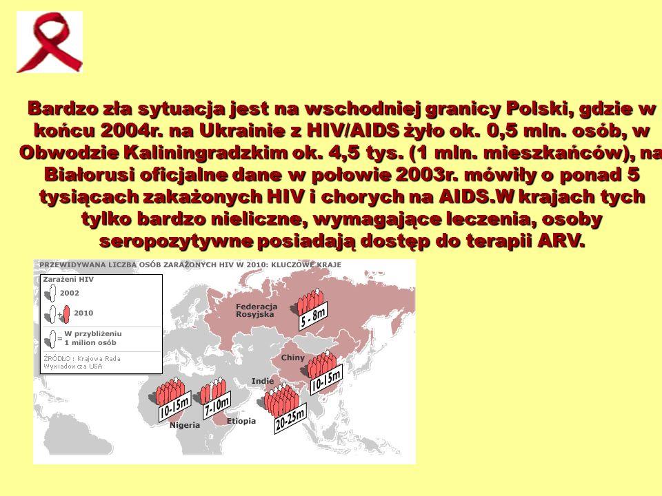 Bardzo zła sytuacja jest na wschodniej granicy Polski, gdzie w końcu 2004r.