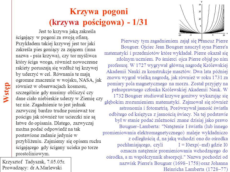 Krzywa pogoni (krzywa pościgowa) - 1/31
