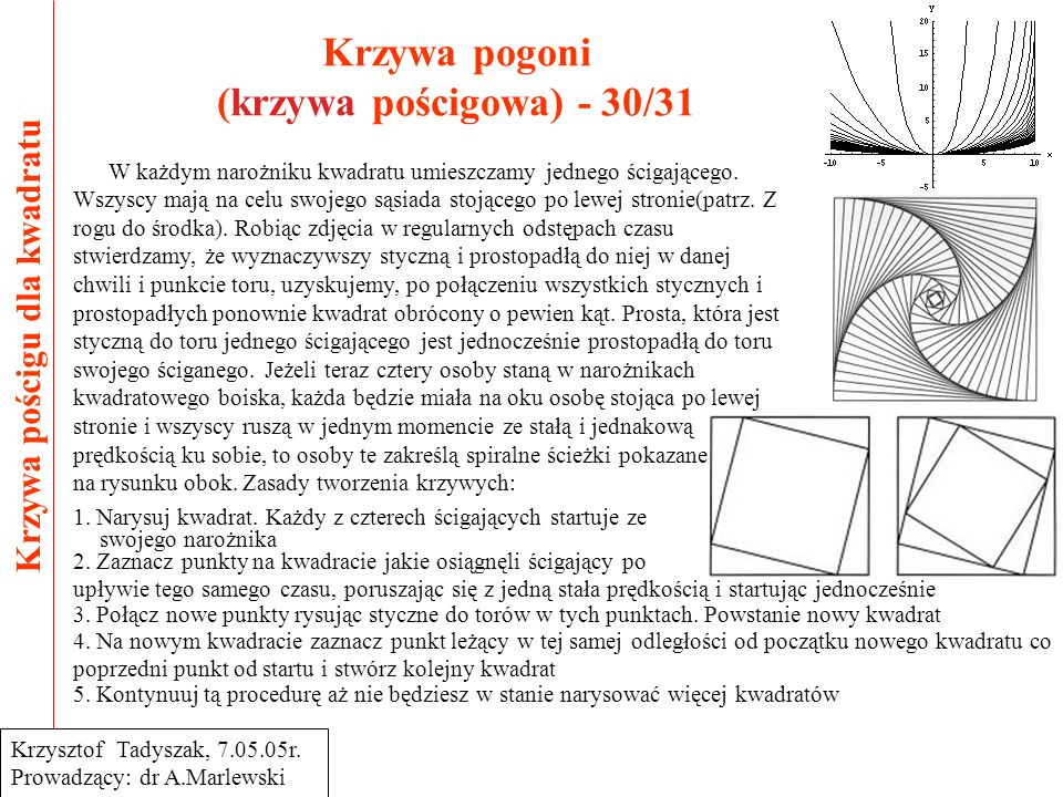 Krzywa pogoni (krzywa pościgowa) - 30/31
