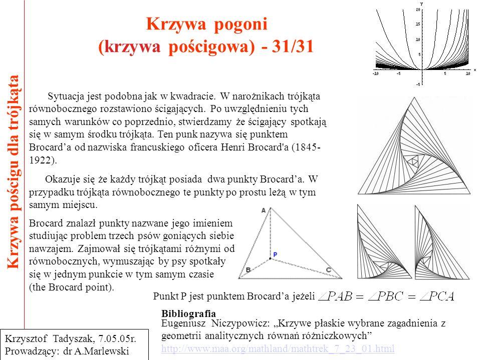 Krzywa pogoni (krzywa pościgowa) - 31/31