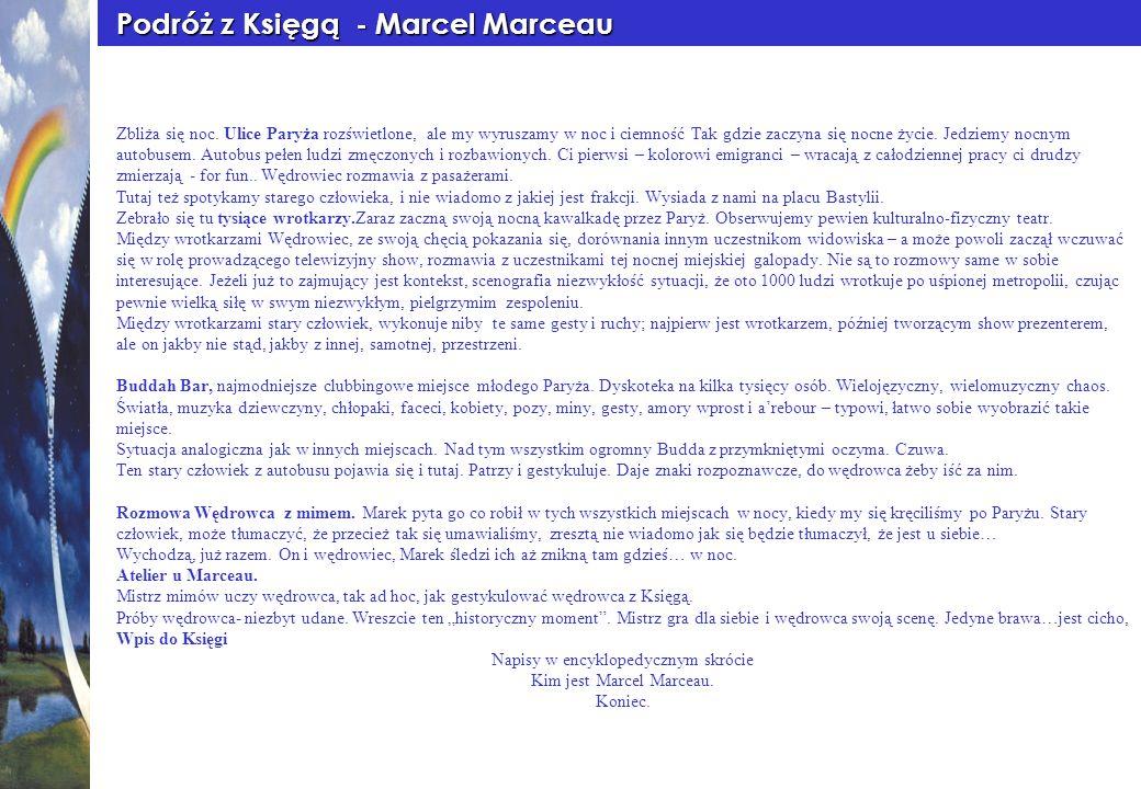 Podróż z Księgą - Marcel Marceau
