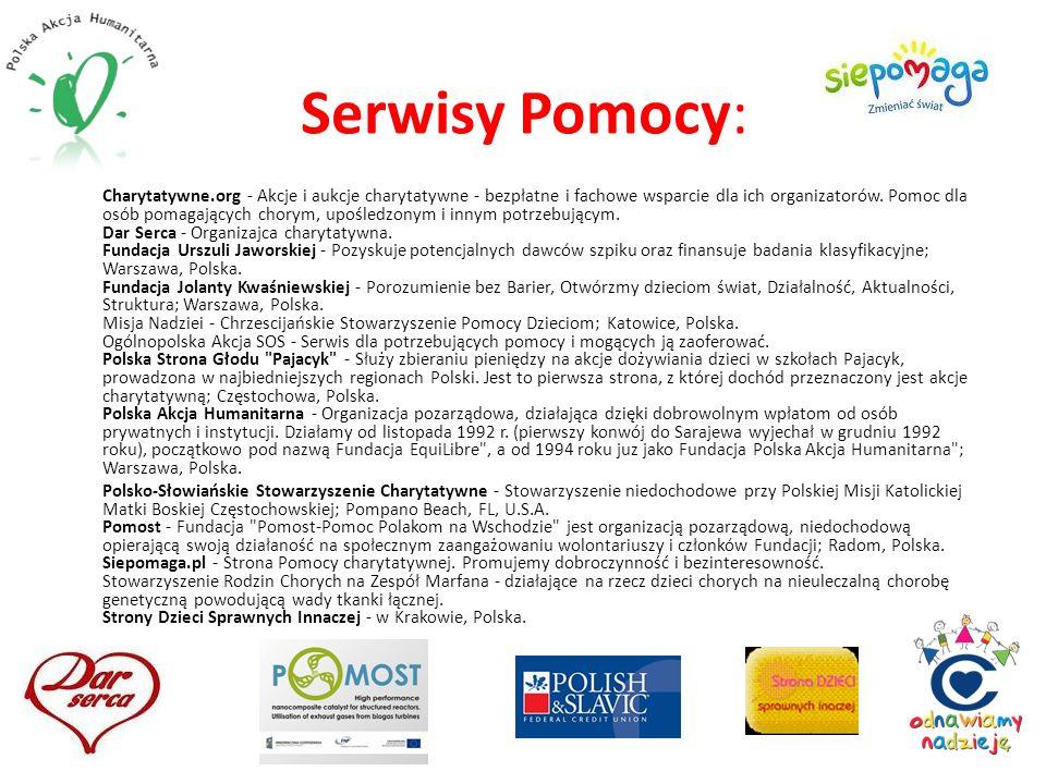 Serwisy Pomocy: