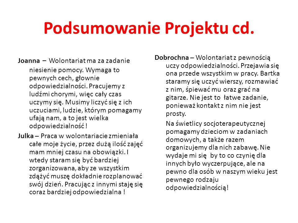 Podsumowanie Projektu cd.
