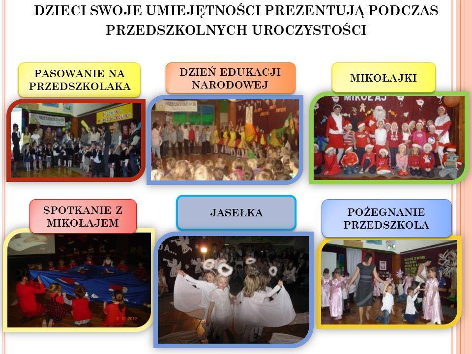 dzieci swoje umiejętności prezentują podczas przedszkolnych uroczystości