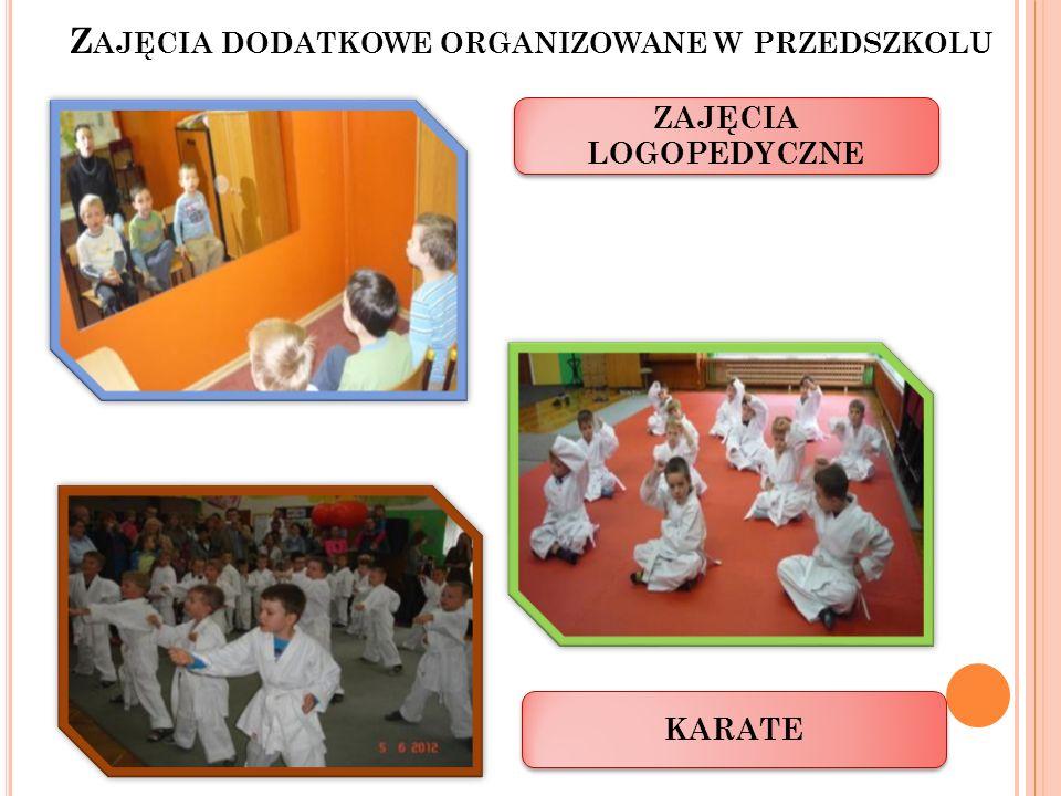 Zajęcia dodatkowe organizowane w przedszkolu