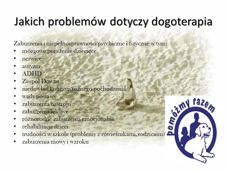 Jakich problemów dotyczy dogoterapia