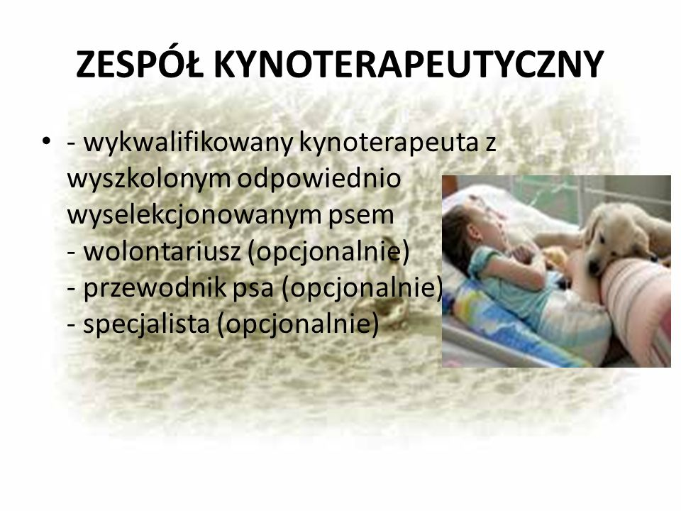 ZESPÓŁ KYNOTERAPEUTYCZNY