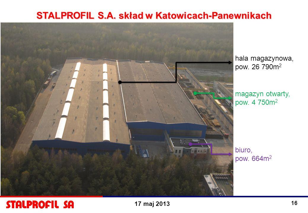 STALPROFIL S.A. skład w Katowicach-Panewnikach