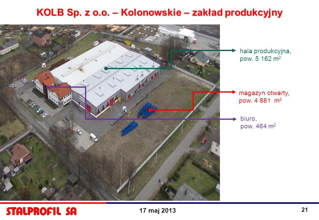 KOLB Sp. z o.o. – Kolonowskie – zakład produkcyjny