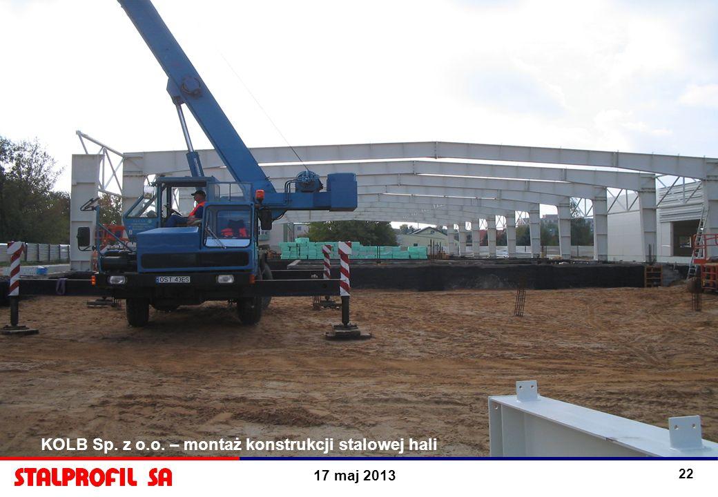 KOLB Sp. z o.o. – montaż konstrukcji stalowej hali