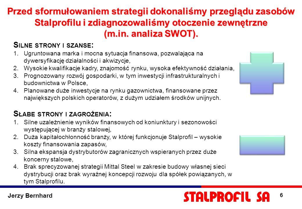Przed sformułowaniem strategii dokonaliśmy przeglądu zasobów Stalprofilu i zdiagnozowaliśmy otoczenie zewnętrzne