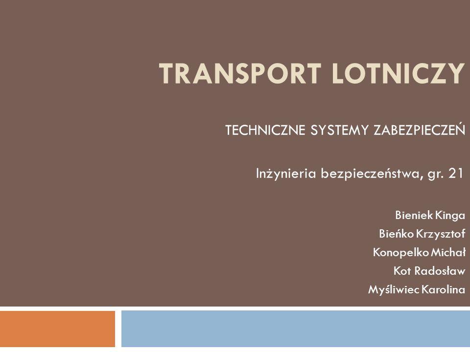 TRANSPORT LOTNICZY TECHNICZNE SYSTEMY ZABEZPIECZEŃ