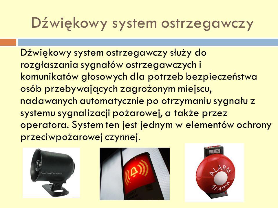 Dźwiękowy system ostrzegawczy