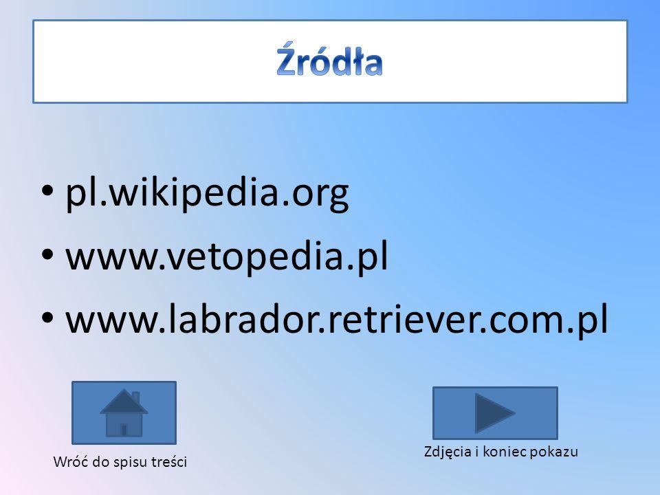 pl.wikipedia.org www.vetopedia.pl www.labrador.retriever.com.pl Źródła