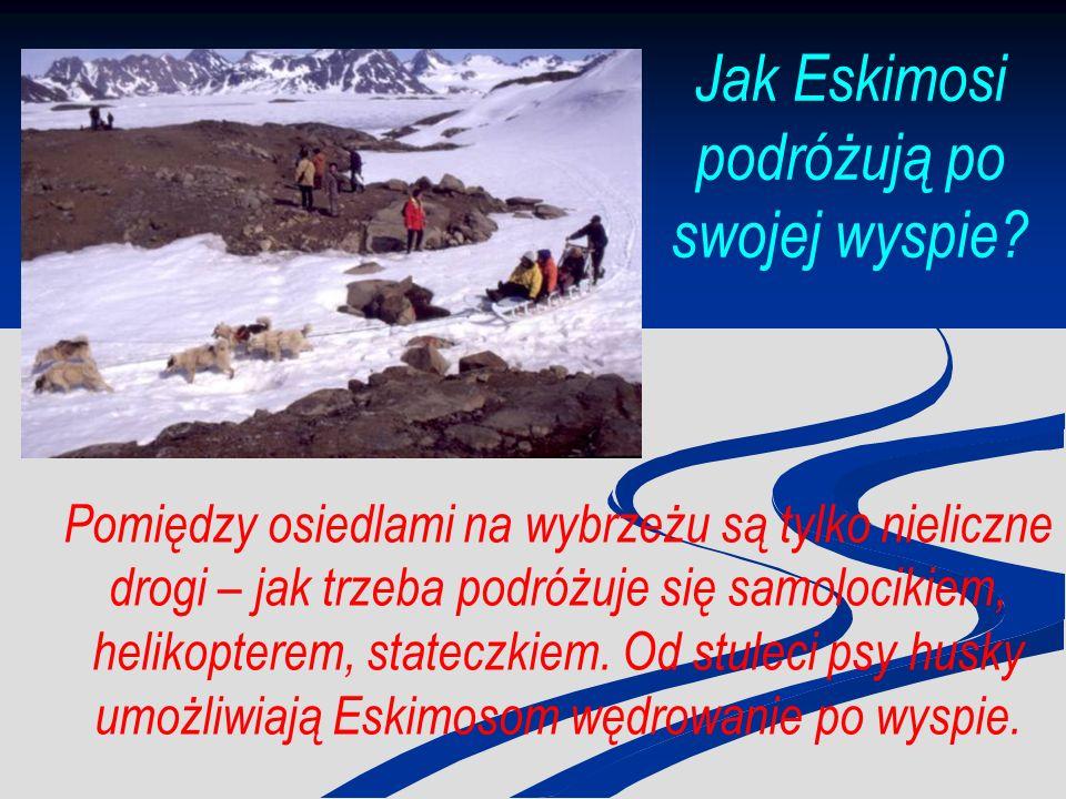 Jak Eskimosi podróżują po swojej wyspie