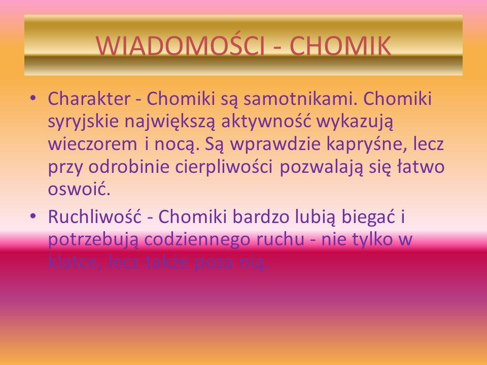 WIADOMOŚCI - CHOMIK