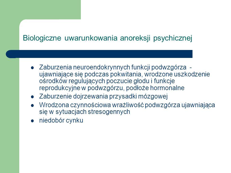 Biologiczne uwarunkowania anoreksji psychicznej