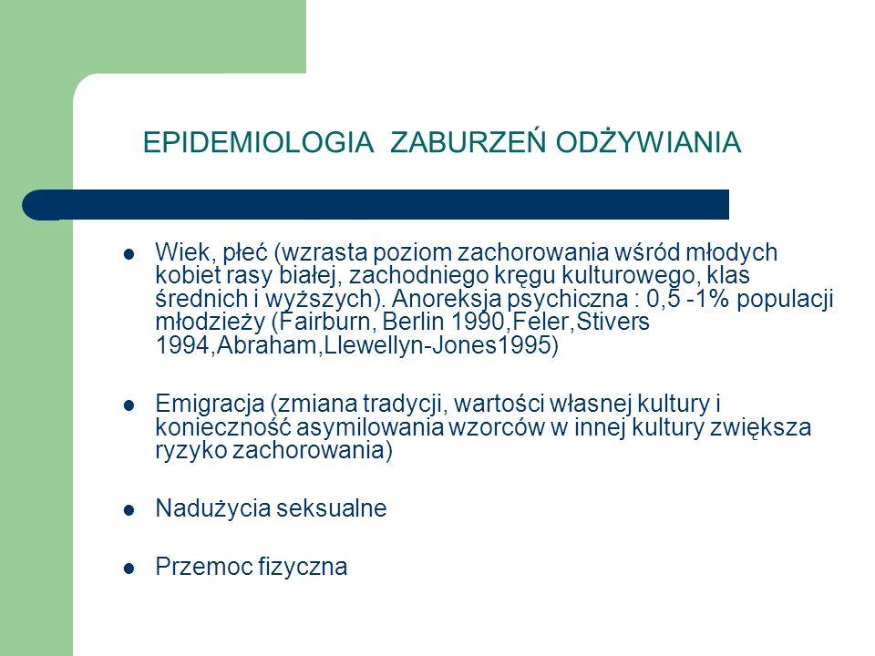 EPIDEMIOLOGIA ZABURZEŃ ODŻYWIANIA