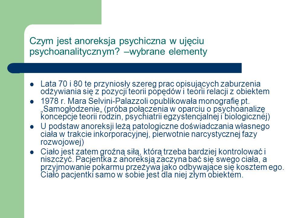 Czym jest anoreksja psychiczna w ujęciu psychoanalitycznym