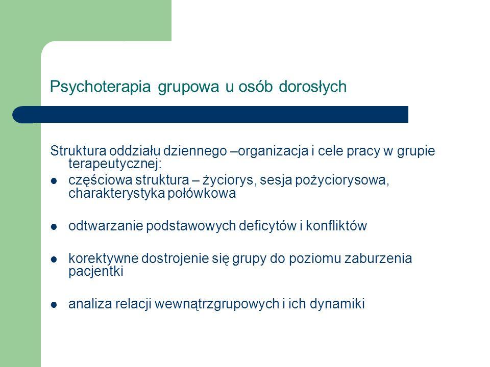 Psychoterapia grupowa u osób dorosłych
