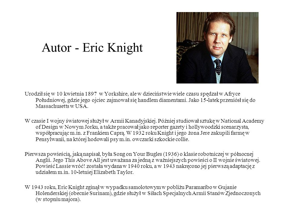 Autor - Eric Knight