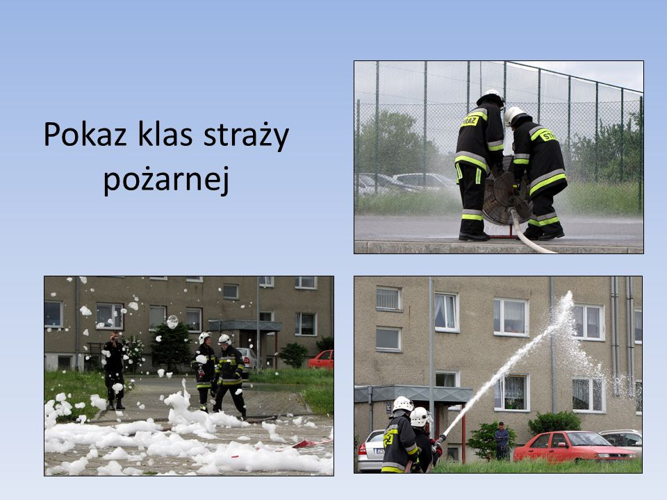 Pokaz klas straży pożarnej