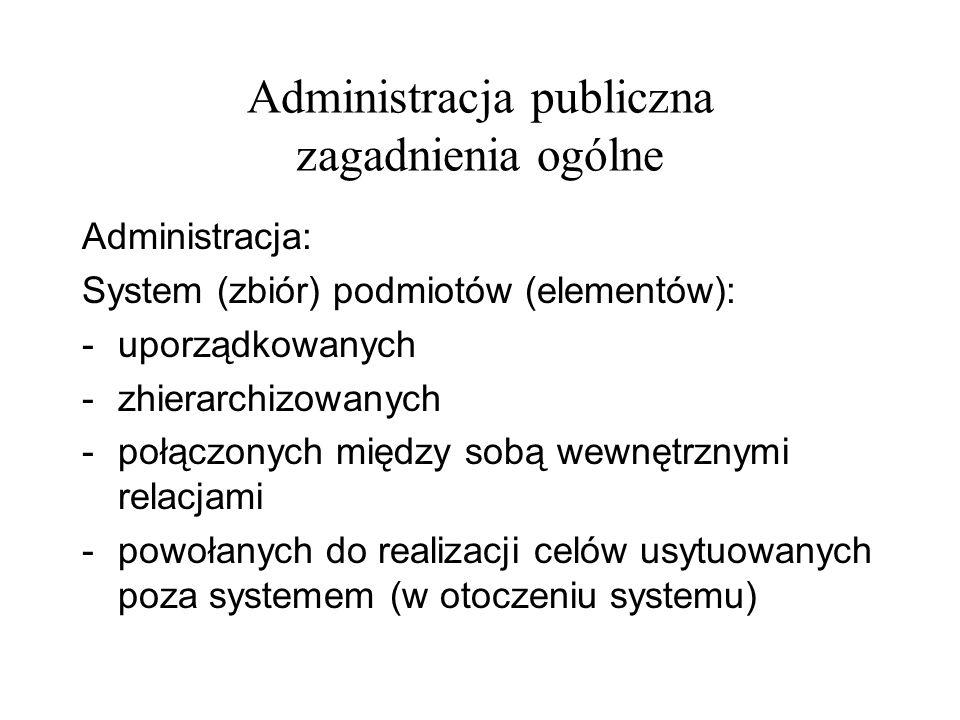 Administracja publiczna zagadnienia ogólne