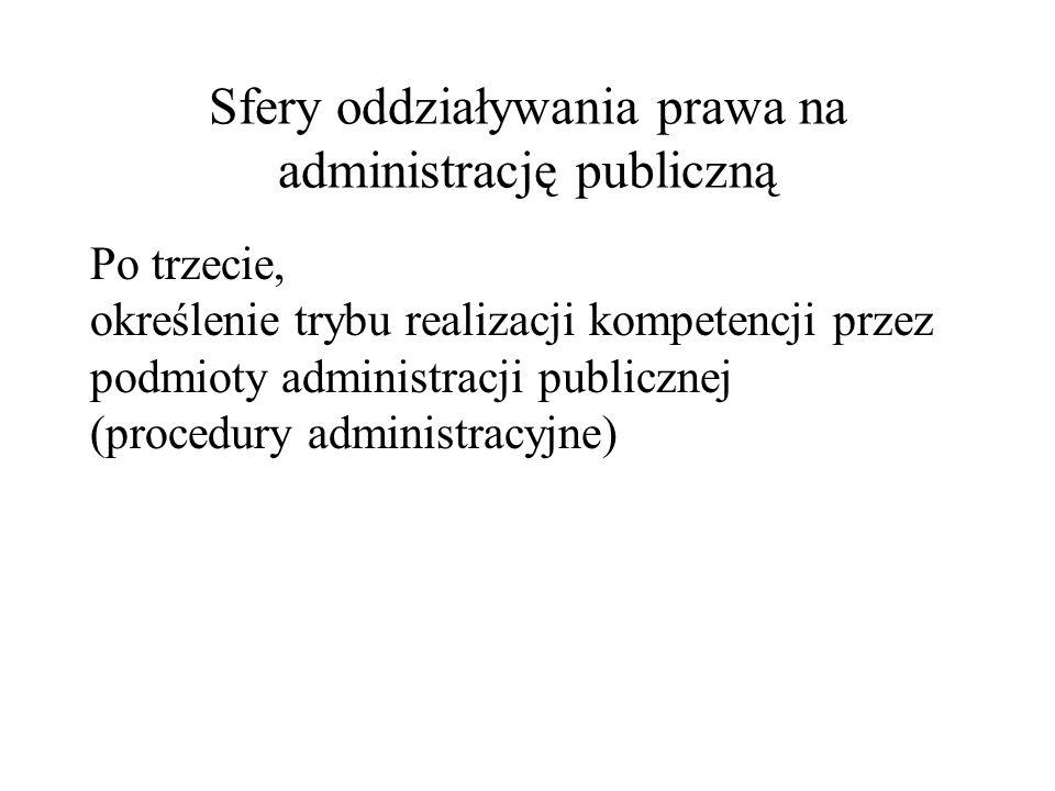 Sfery oddziaływania prawa na administrację publiczną