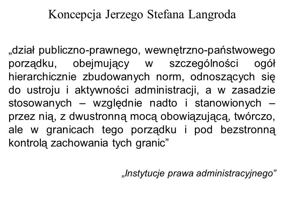 Koncepcja Jerzego Stefana Langroda