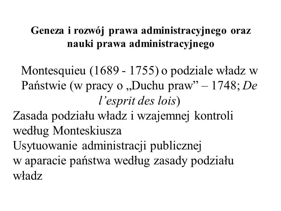 Zasada podziału władz i wzajemnej kontroli według Monteskiusza