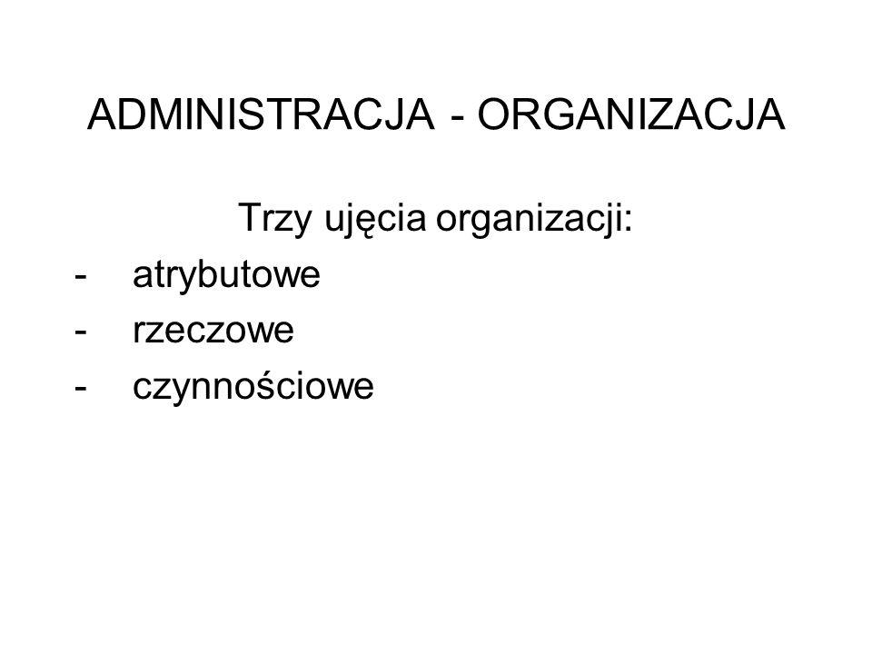 ADMINISTRACJA - ORGANIZACJA