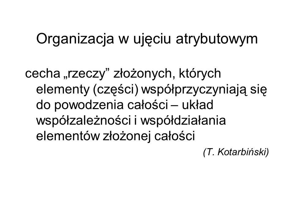 Organizacja w ujęciu atrybutowym