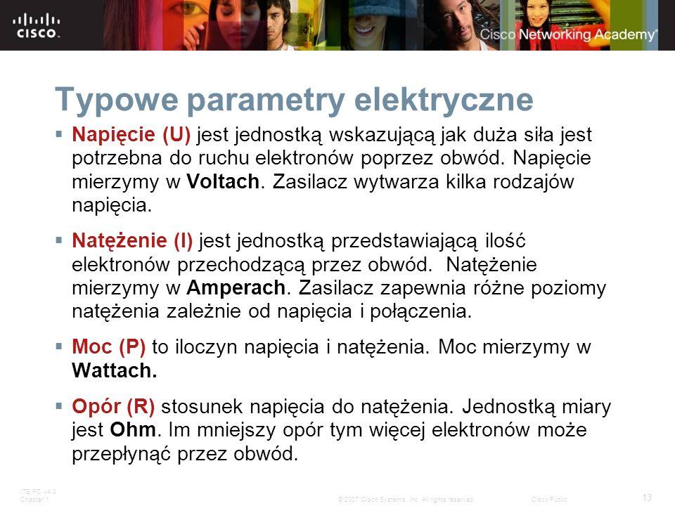 Typowe parametry elektryczne