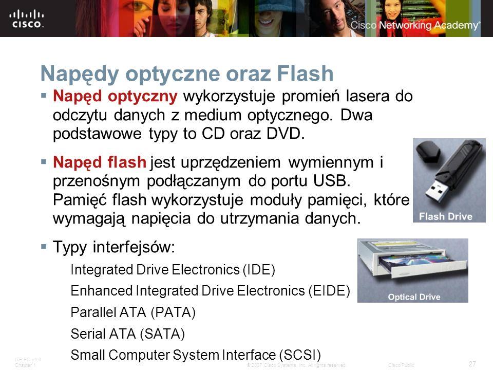 Napędy optyczne oraz Flash