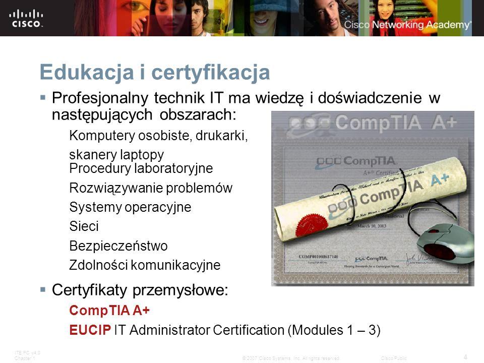 Edukacja i certyfikacja