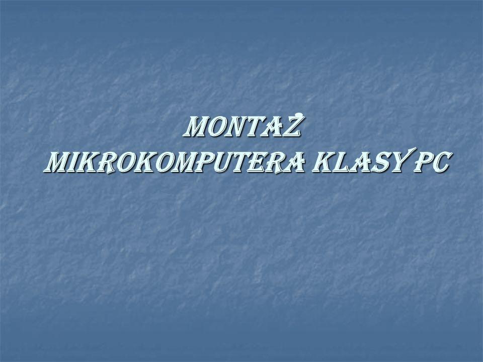 Montaz mikrokomputera klasy PC