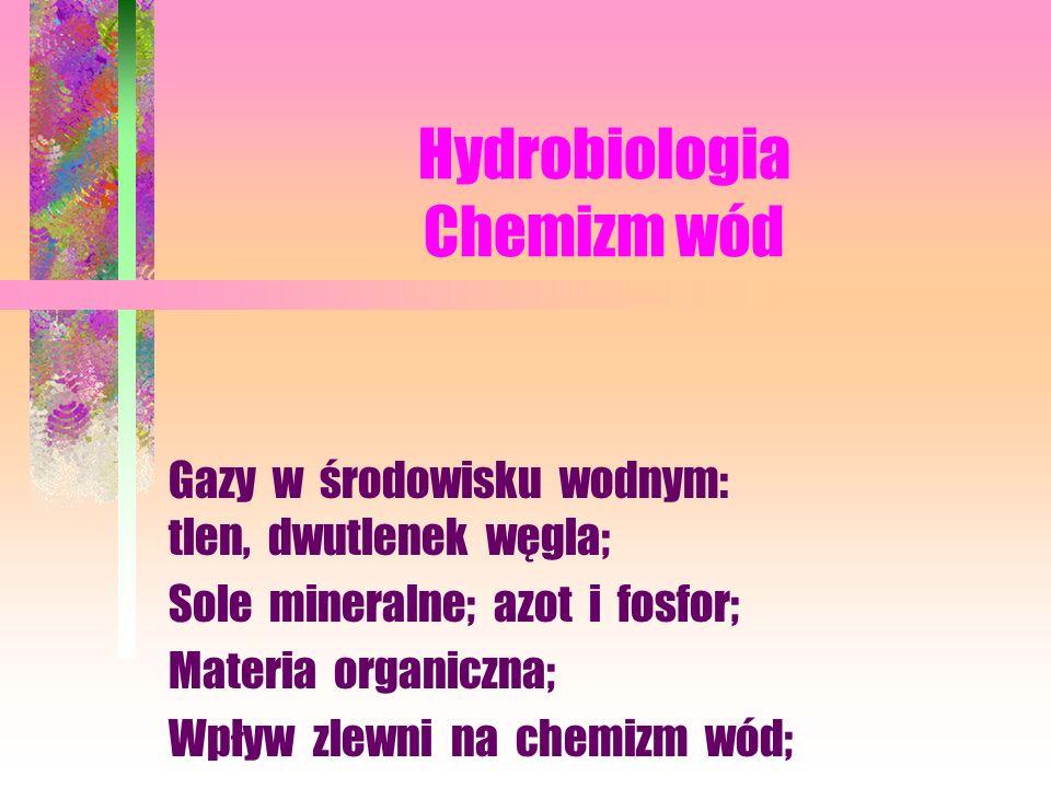 Hydrobiologia Chemizm wód
