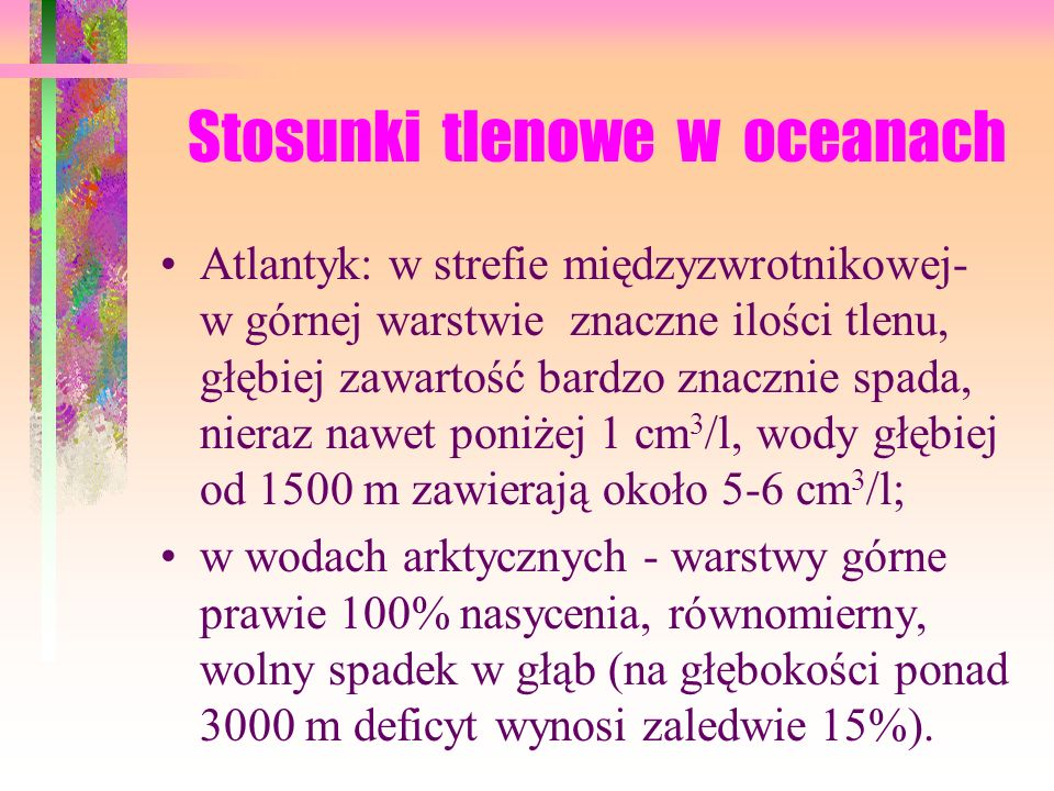 Stosunki tlenowe w oceanach