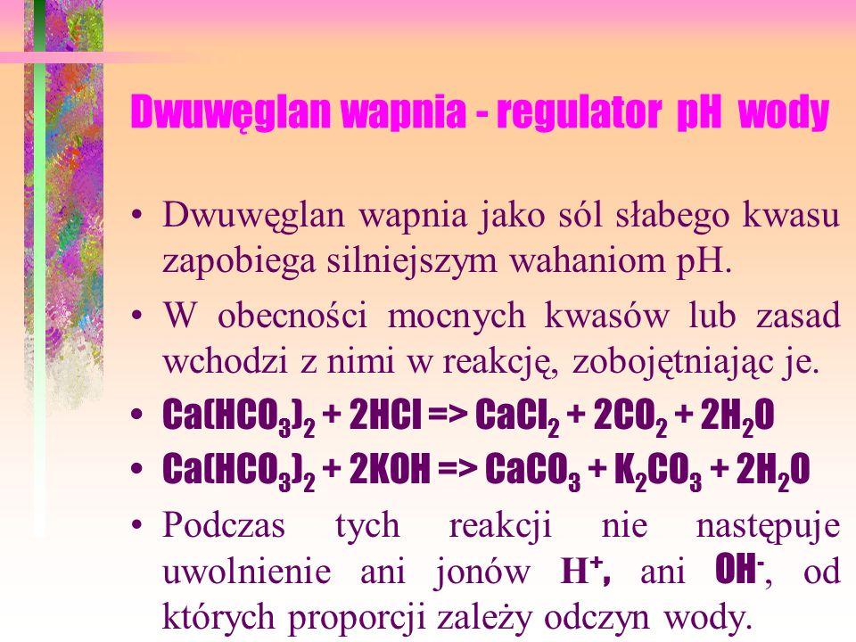 Dwuwęglan wapnia - regulator pH wody